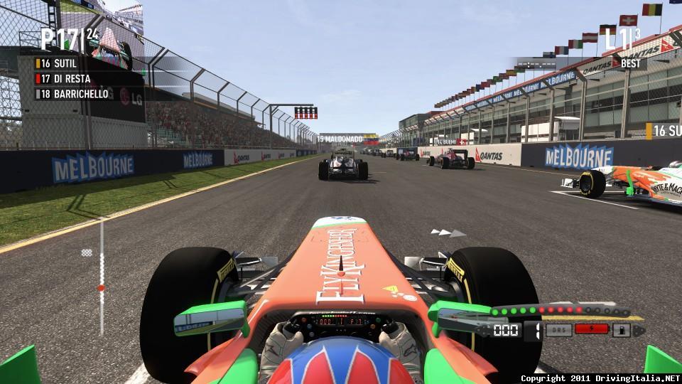 F1 2011 Removed Start Lights