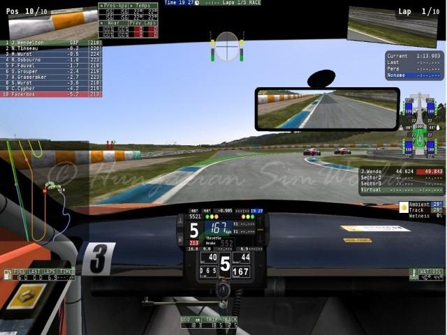 rF2 TrackMap Plugin v0.92
