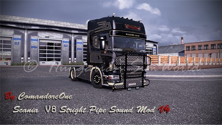 ETS2 Scania Stright Pipe V8 Sound Mod V4 FINAL