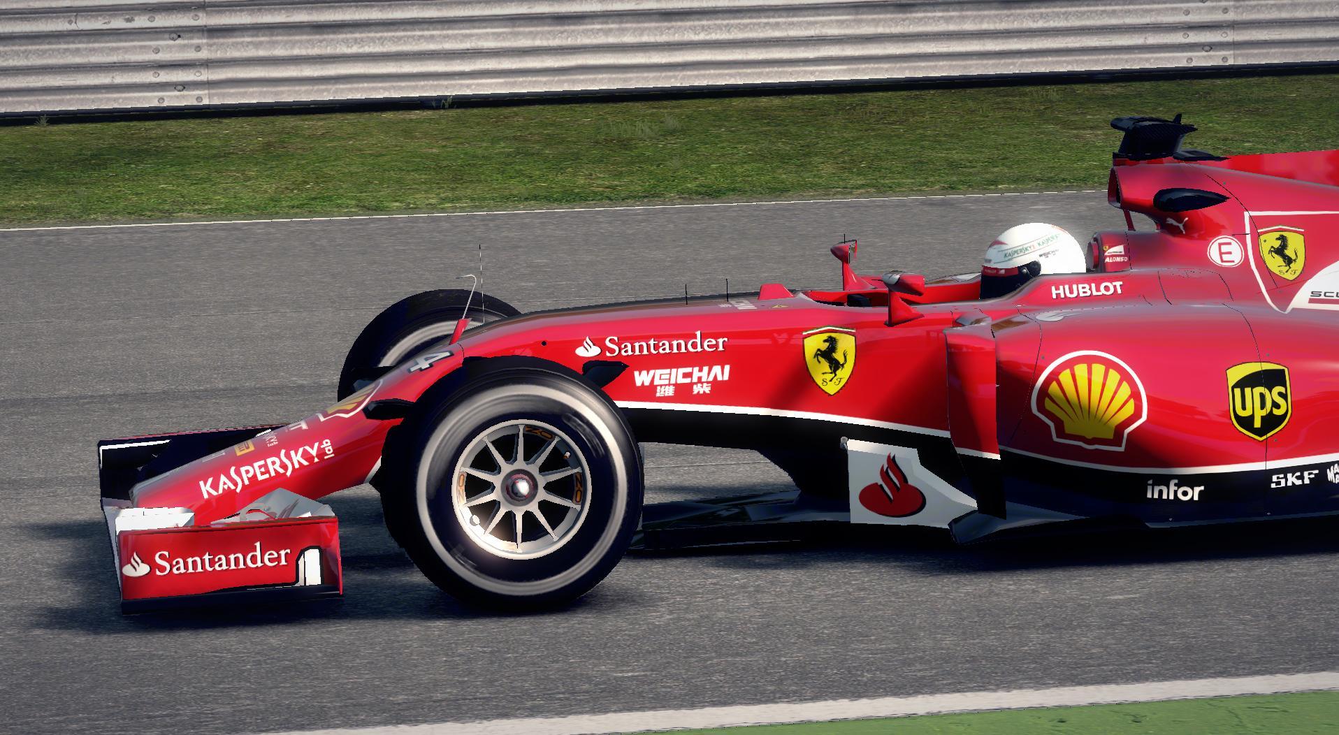 F1 2014 Sebastian Vettel Ferrari Helmet v1.1