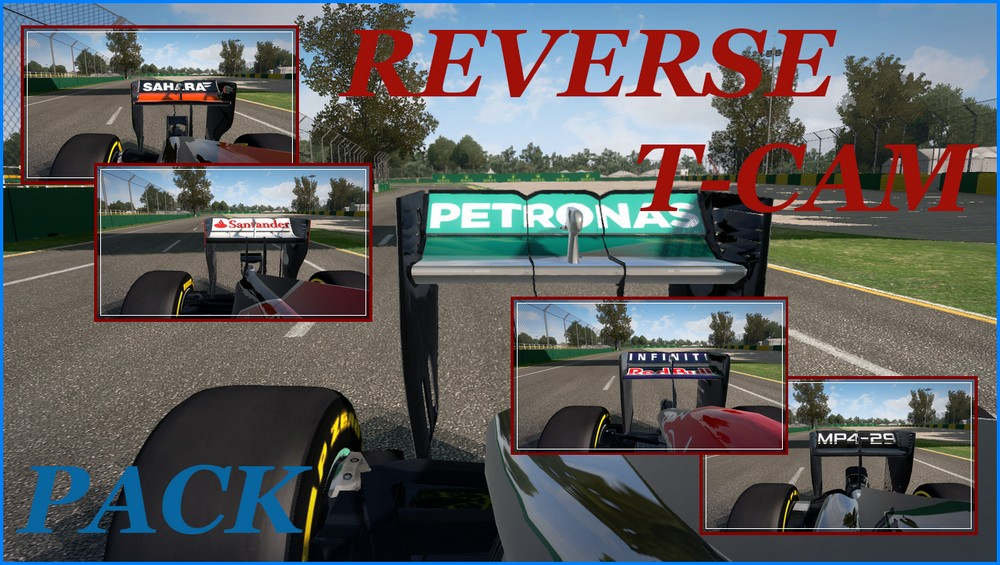 F1 2014 Reverse T-Cam Pack v1.0