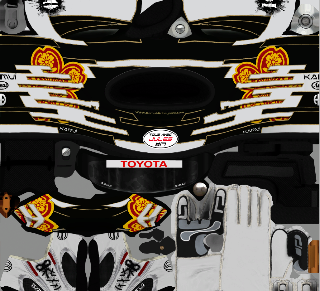 Kamui Kobayashi SuperFormula Test Helmet v1.0