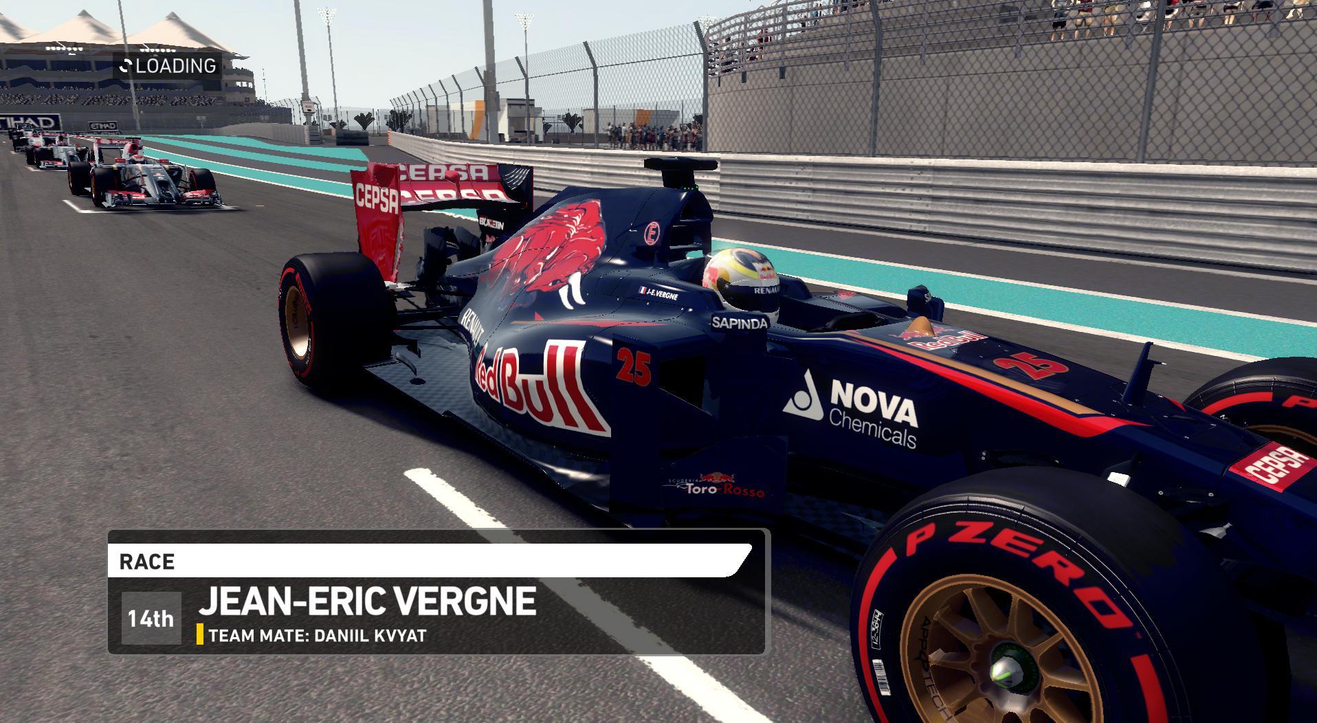 F1 2014 Jean-Éric Vergne Abu Dhabi Helmet 2014 v1.0