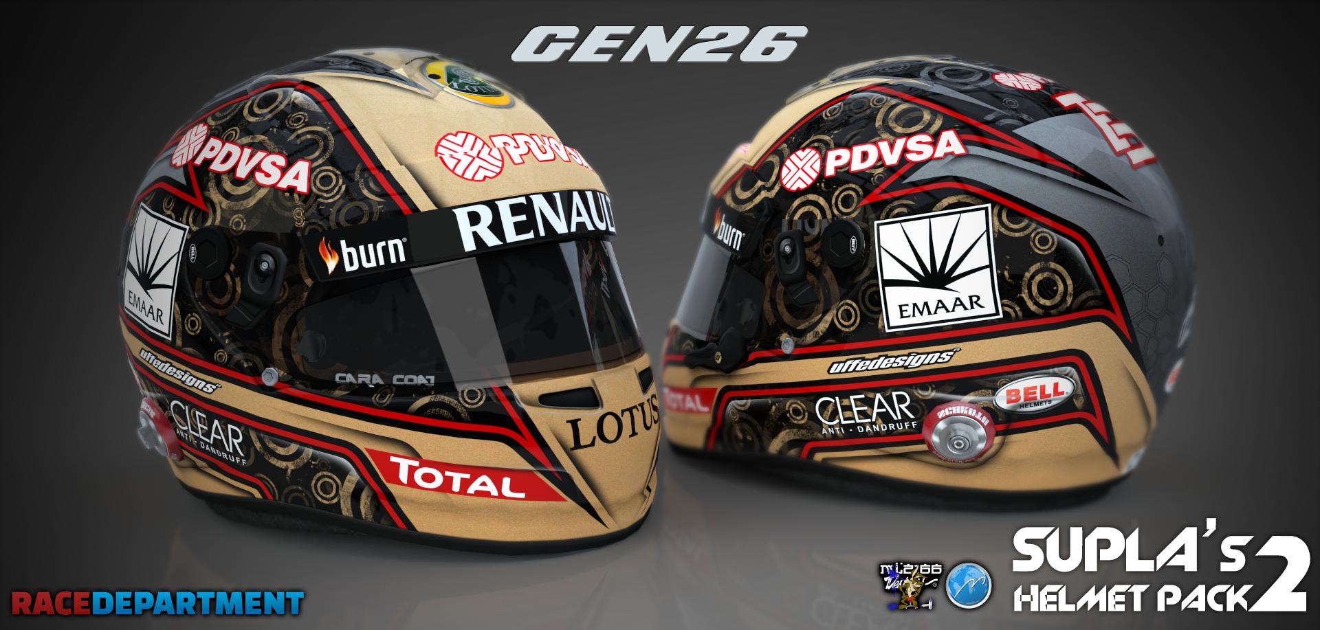 F1 2014 Supla's Helmet Pack v2 1