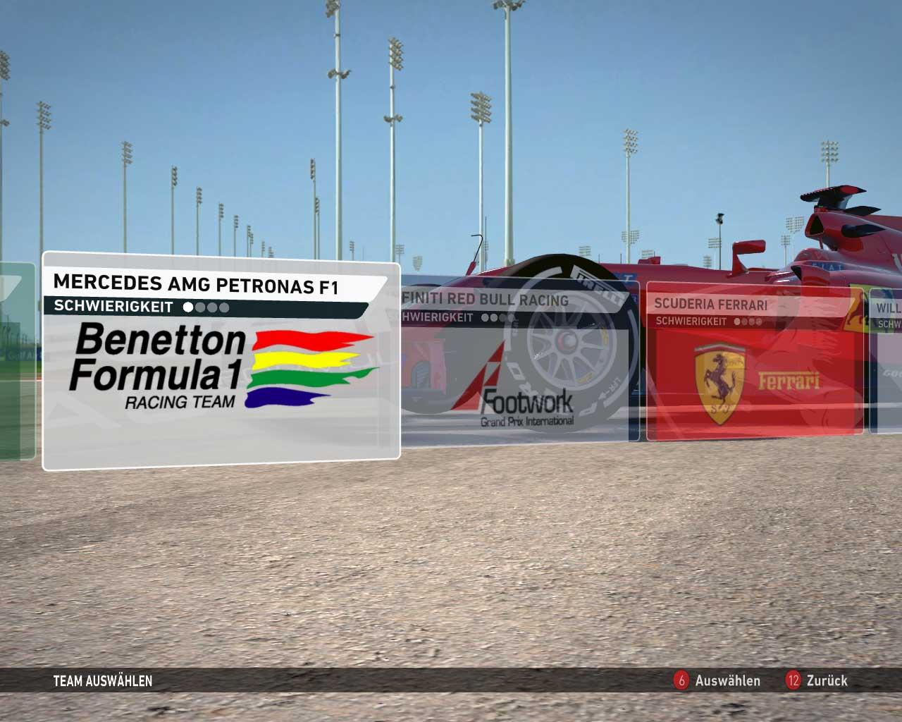 F1 2014 1994 Teams Mod Menu
