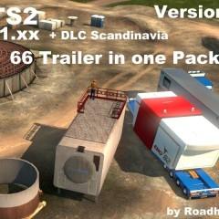 ETS2 66 Roadhunter Heavy Trailers Pack v1.0