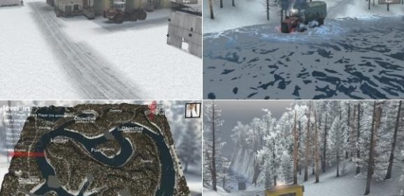 Spintires Ice Road Trucker Map v1.0