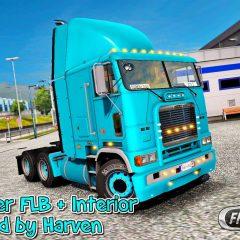 ETS2 Freightliner FLB + Interior V2.0.5